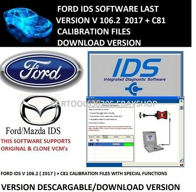 2017 FORD  SOFT IDS 106.02 & calibration 81 FULLY Activated! Fast Download!