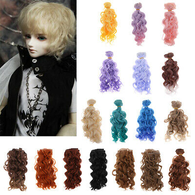 BJD Doll Wig for SD LUTS Dollfie DZ DOD Curly Hair DIY Dolls Accessory