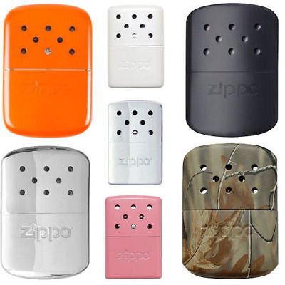 Zippo Hand Warmer Winter Black Polished Chrome Virtually Odourless Gift