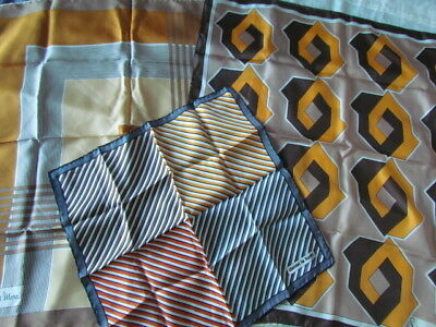 New Silk Scarf Vintage 70Th Lot Geometric abstract Abstract France Piere Cardin