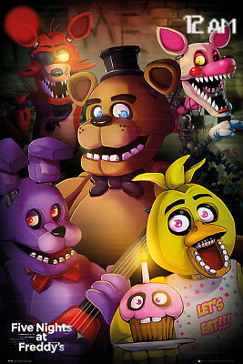 Five Nights at Freddys Group Gaming Maxi Poster Print 61x91.5cm   24x36 inches