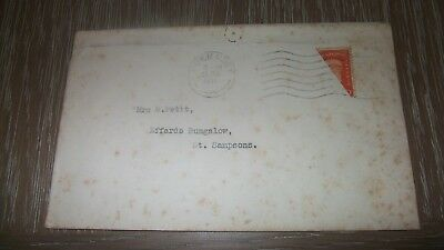 Channel Islands Guernsey  WWII WW2 Occupation Cover ( used envelope)  2d 1940 ?