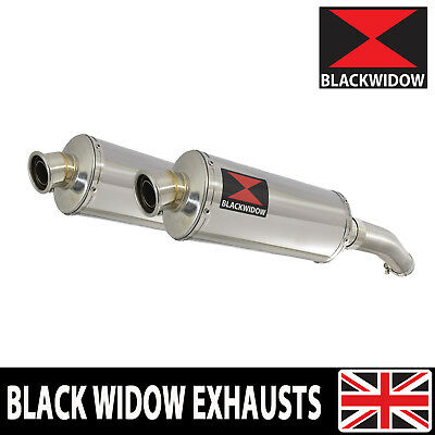 YAMAHA FJR 1300 2006-2017 Exhaust Silencers 300mm Oval Stainless 300SS