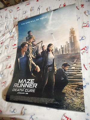 """Dylan O'Brien MAZE RUNNER: THE DEATH CURE orig movie poster DS 27""""x40"""" vB 2018"""