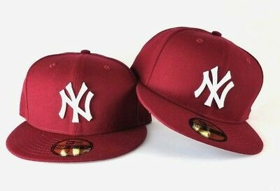 online store 78043 dfa07 New Era MLB Burgundy New York Yankee 59Fifty Gray Bottom Fitted hat Cap