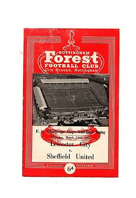 1961 FA Cup Semi Final Replay  Leicester City v Sheffield United @ Nottingham