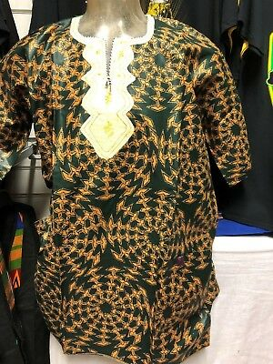 Handmade Traditional Africa Dashiki Shirt Ltd Edition One Off Roots & Culture