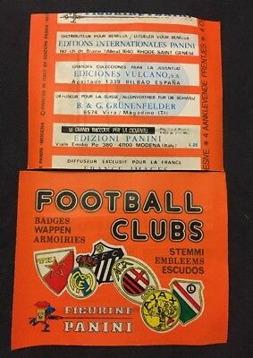 Bustina Pochette Packet Sealed Panini   Foot Football Clubs Badges