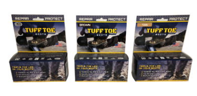 TUFF TOE Work Boot Steel Toe Protection & Repair. Works for All Boot Materials