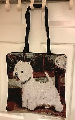 Westie Jacquard-woven Tote Bag (West Highland White Terrier) - New