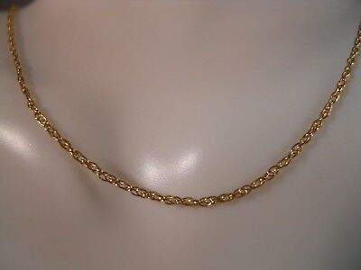 "14K Yellow Gold Diamond Cut Rope O Circle Link Chain Necklace 20 1/2"" 1.06G 1Mm"