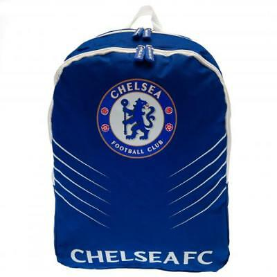 Chelsea FC Official Crested Nylon Backpack School Bag With Side Pockets Present