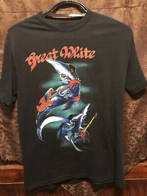 GREAT WHITE ~ TRUE VINTAGE ~ 1989 Concert Tour 2 Sided T Shirt ~ HEAVY METAL