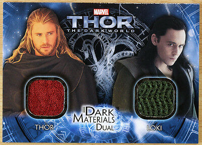 2013 Upper Deck THOR 2 Dark World Materials Costume Card DMD-10 - Loki Thor