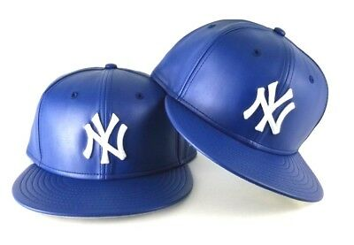 """New Era 59fifty New York Yankees Fitted Hat All Royal Blue//White /""""NY/"""""""