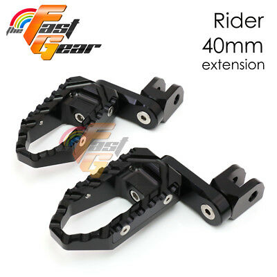 Multi Step Black 40mm Tour Front Foot Pegs Fit MV Agusta Brutale All year