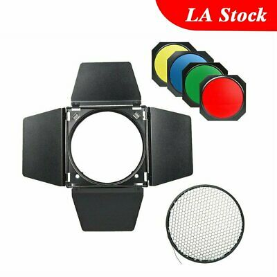 Godox BD-04 Barn Door Honeycomb Grid Color Gel Filter for studio Strobe Flash