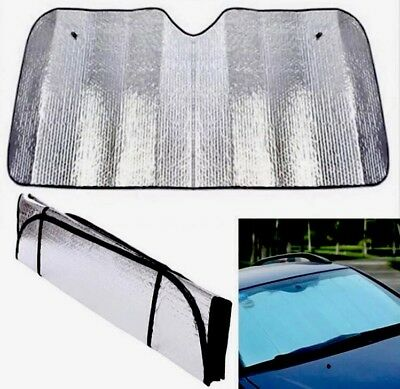 Car Windscreen Sun Shade Heat Reflective Visor Front UV Shield 140X70cm AU Stock