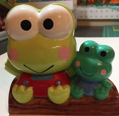 RARE PIECE - SANRIO KEROPPI COIN BANK  VINTAGE 1980's NEW WITHOUT BOX