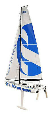 Thunder Tiger RC Boat 1/22.5 Scale Racing Yacht Challenger 800  5550-K40 Kit