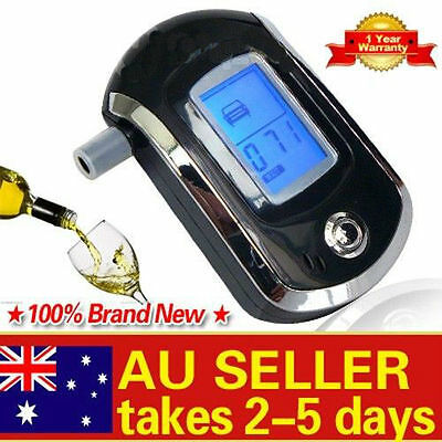 LCD Police Digital Breath Alcohol Analyzer Tester Breathalyzer Audiable AU GF