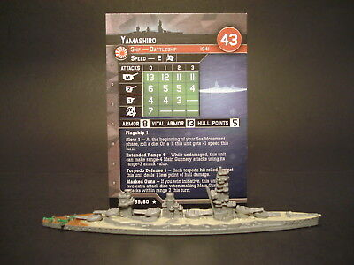 Axis and Allies War at Sea - 59/60 Yamashiro - Battleship (Rare) -JP(#46)