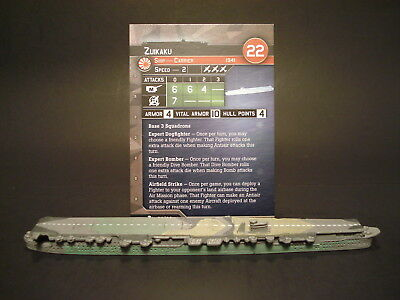Axis and Allies War at Sea - 60/60 Zuikahu - Carrier (Rare) -JP(#47)