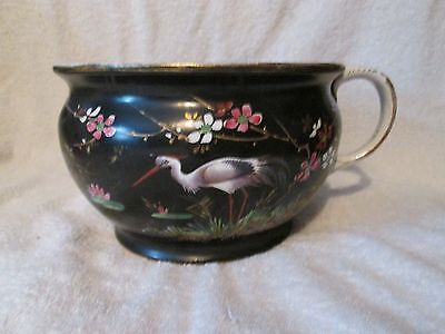 Vintage Antique Japanese Chinese Chamber Pot Decorative Hand Painted Victorian ?