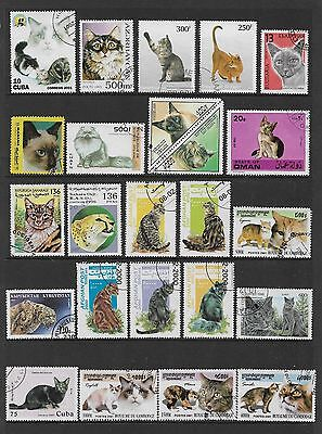 WORLD STAMPS - mixed collection, CATS, No.2