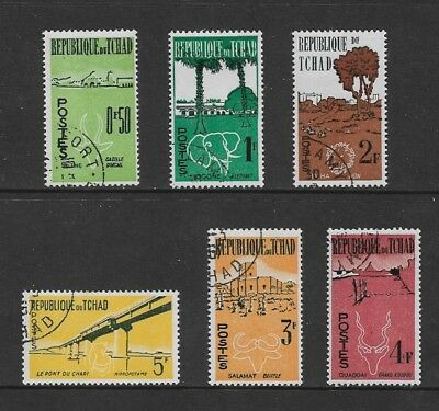 CHAD 1961 First Anniversary of Independence, set of 6, used CTO