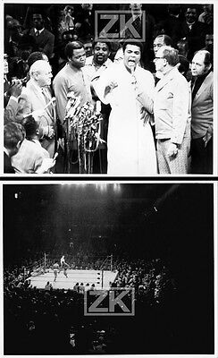 MOHAMED ALI Cassius Clay Boxe 2 Photos LUCCHESI 1970s