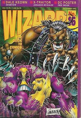 Wizard: The Guide to Comics December 1992 -Number 16 - With The Maxx Poster