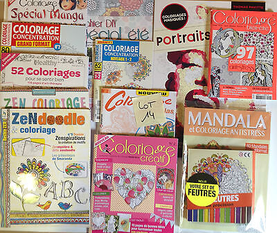 Coloriage Anti Stress Magazine.Lot 12 Magazines Coloriage Anti Stress Art Therapie Coloriages Lot 14