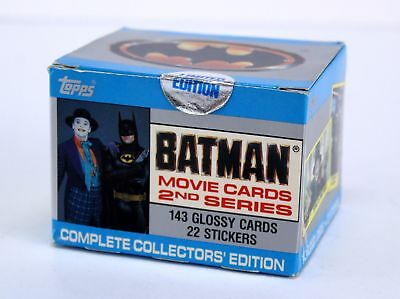 NEW 1989 topps BATMAN MOVIE cards 2nd series complete set 143 cards 22 stickers