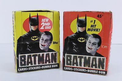 NEW 1989 topps BATMAN MOVIE cards 36 packs two boxes 1st & 2nd series