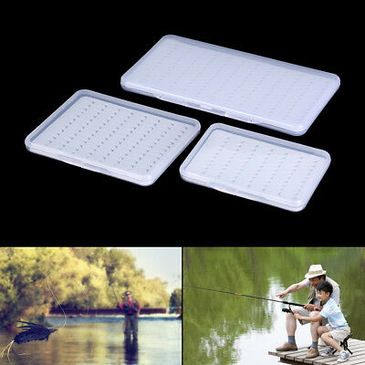 1X Fly Fishing Box Super Slim With Foam Insert Transparent Hook Box Fly BoxRASK