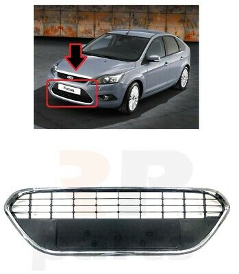 New  Ford Focus Mk2 2008 - 2011 Facelift Front Bumper Lower  Grill Chrome Trim