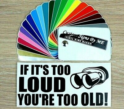 Funny Sticker If It's Too Loud You're Too Old JDM Vinyl Decal Window Bumper SML