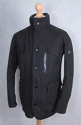 Barbour Land Rover Collection Size L Large Waxed Cotton Black Birkly Jacket Hood