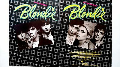"Blondie ""eat To The Beat""   (1979)  Rare Original Print Promo Poster Ad"