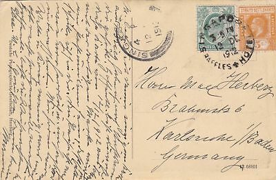 1912: Post card from Singapore to Germany; Moschee