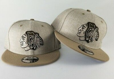 New Era Wheat Color Chicago Black Hawks 9Fifty Snapback Hat