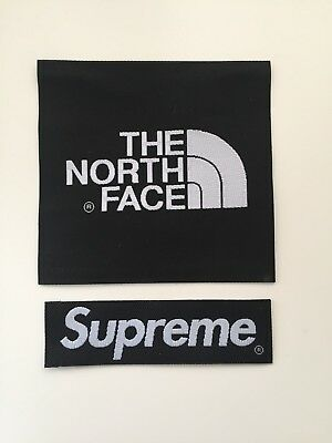 The North Face X Supreme Arm Patch TNF Sew On/Glue On For Jacket Or Fleece