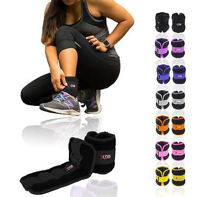 Neoprene Ankle Wrist Weights Running Training Exercise Fitness Arm Leg Straps 2x
