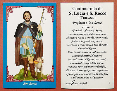 Santino Holy Card: S. San Rocco - Tricase