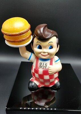 Vintage Big Boy Bank With Burger On Tray W/ Stopper