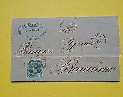 Spain 1865 Folded letter to Barcelona plus 3 others