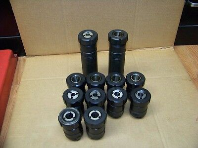 Nice Lot Of 12 Varilock C8 Collet Chucks With Collets
