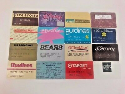 Lot of 16 Vintage Retail Store Cards Credit Charge Card W7