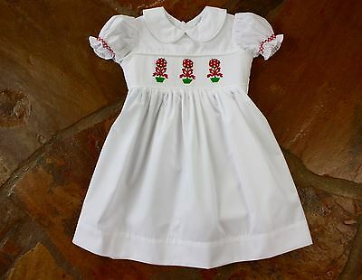 NWT Remember Nguyen Red Topiary Dress 3 3T Girls Smocked